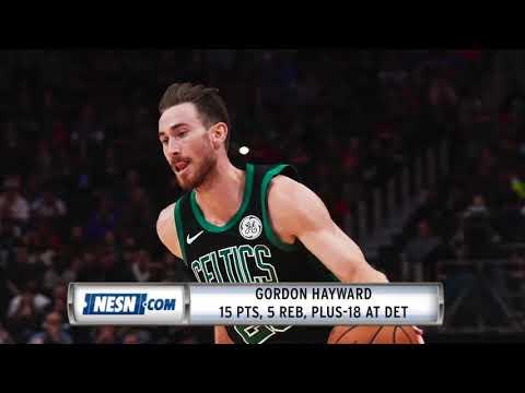 Video: Celtics vs. Pistons preview: Jaylen Brown, Gordon Hayward look to stay hot