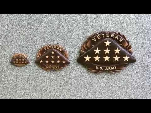 Veteran Headstone or Grave Marker Medallion