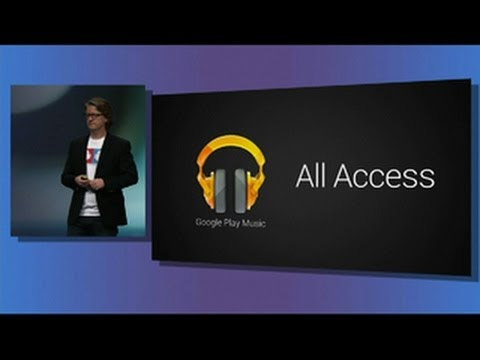 streaming - http://cnet.co/16ly6UJ Google announces All-Access, a music-streaming service, at Google I/O in San Francisco. Users will be able stream and listen to songs ...