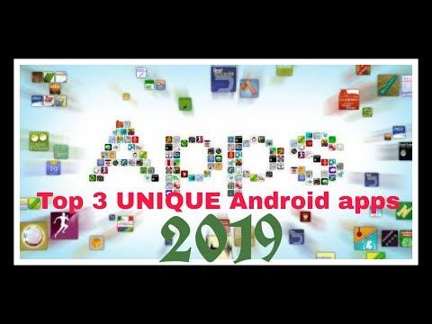 UNIQUE ANDROID APPS 2019 ,Top 3 UNIQUE Android apps 2019 | Hindi | Unique Tech BR