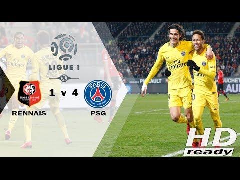 REN V PSG 1-4 Ligue 1 - PSG Menang Besar atas 10 Pemain Rennes   Full Highlight 16-12-2017