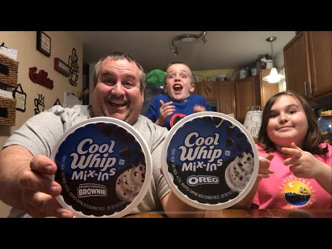 Cool Whip Mix-In's Oreo Cookie and Cool Whip Mix-Ins Double Chocolate Brownie