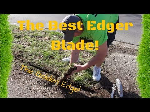 The Best Lawn Care Edger Blade! ► Meaningful Shout-Out, The Golden Edge, Lanier Lawn Care (видео)