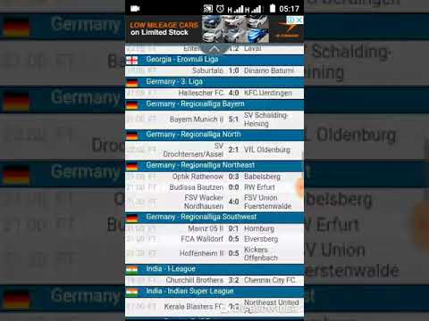 Yesterday Football Results From LiveScore Official HD Video 2019