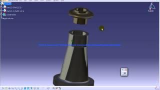 Catia V5 Tutorial|P2 Assemble Screw Jack|Coincidence Constraint|Mechanical Design Engineering