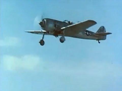 Captured Nakajima Ki-84 & Mitsubishi J2M & G4M - Flight test by U.S. TAIU Color footage - May 1945