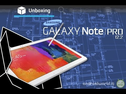 Samsung Galaxy Note PRO, unboxing in italiano