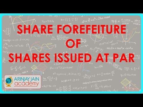Class XII - CBSE, ICSE, NCERT - Buchhaltung - Share forefeiture von Aktien zum Nennwert ausgegeben