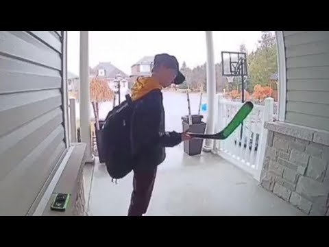 Doorbell Video Catches Boy Kissing Hockey Stick Honoring Humboldt Broncos