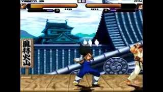 BEST FIGHT #3 - Vegeta (dbz) vs Ryu (street fighter)