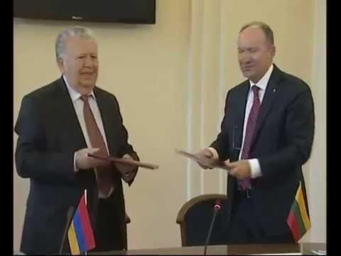 Armėnijos nacionalinės mokslų akademijos prezidento vizitas LMA