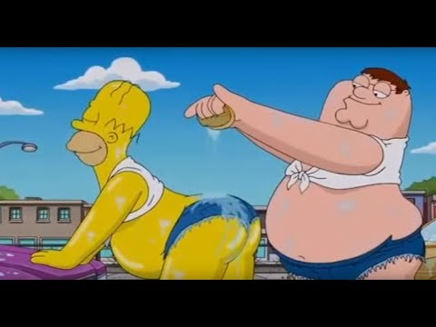 Family Guy - Simpsons Crossover - Carwash Scene