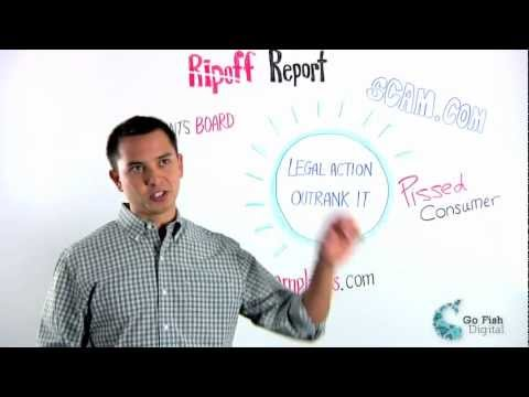 Overcoming Ripoff Report in Google
