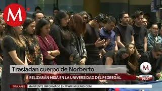 Trasladan cuerpo de Norberto Ronquillo a funeraria