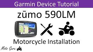6. Garmin Zumo 590LM Motorcycle Installation