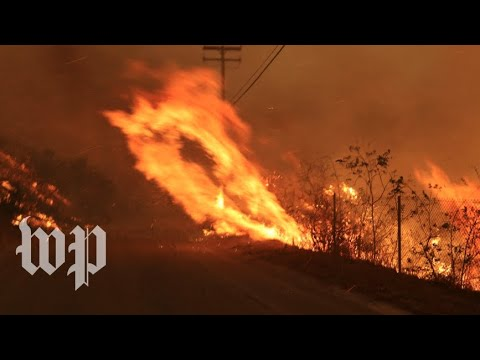 'The neighborhood is on fire':  Wildfires ravage Southern California