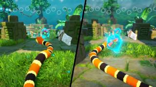 Snake Pass - Switch vs. PS4 Graphics Comparison (Direct-Feed Footage)