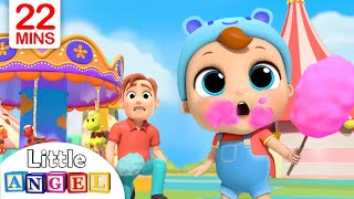 Video Playtime at the Theme Park | Little Angel Nursery Rhymes & Kids Songs MP3, 3GP, MP4, WEBM, AVI, FLV Juli 2019