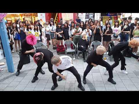 《BTS_#Fire》20190701_194105#KingdomS(킹덤즈) 방탄소년단#불타오르네 홍대버스킹 #SnowHorse