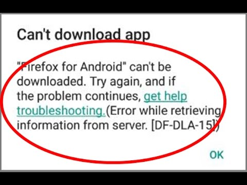 , title : 'Fix Error while retrieving information from server[DF-DLA-15]|Google play store'