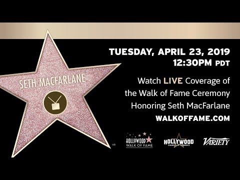 Seth MacFarlane Walk of Fame Ceremony