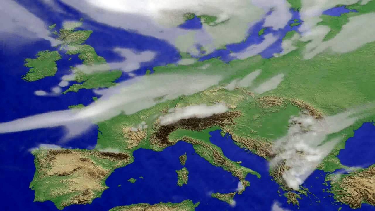 Cloud forecast Europe 2016-08-06