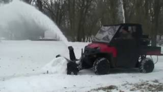 9. Quick Attach ATV/UTV Snow Blower Snowblower Attachment