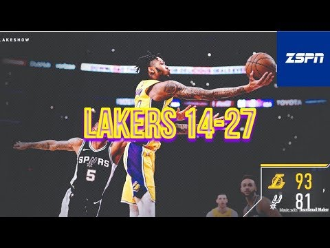 Lakers Beat The San Antonio Spurs 93-81, Brandon Ingram 26 Points
