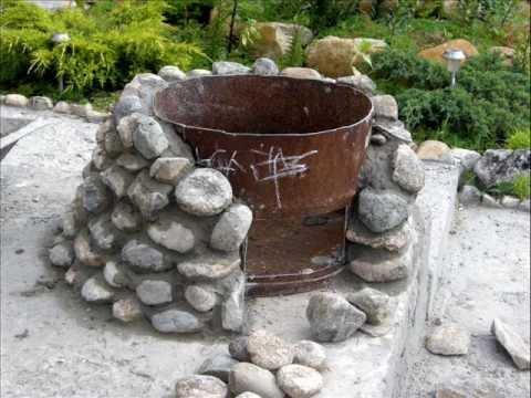 Очаг на даче из камней своими руками фото