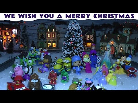 Thomas - The toys at ToyTrains4u have gathered around the Christmas Tree to wish everyone a Merry Christmas and Happy New Year while Thomas and his Friends steam around the Christmas village which ...