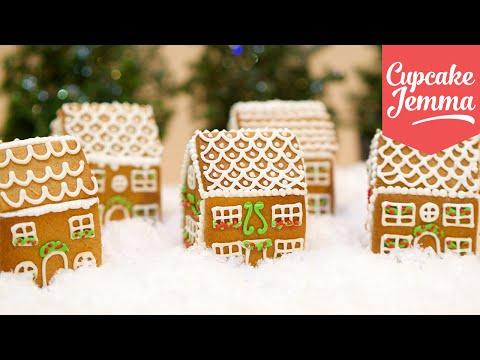 How to Make Mini Edible Gingerbread Houses! | Cupcake Jemma