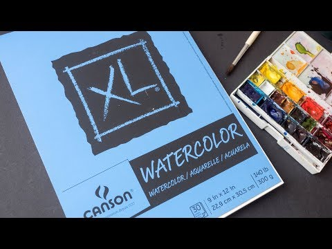 Review: Canson XL Watercolor Paper (300gsm)