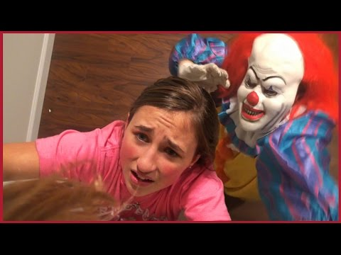 Video Scary Clown Chases us in The House - Girls Run and Hide Scared download in MP3, 3GP, MP4, WEBM, AVI, FLV January 2017