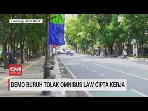 Demo Buruh Tolak Omnibus Law Cipta Kerja