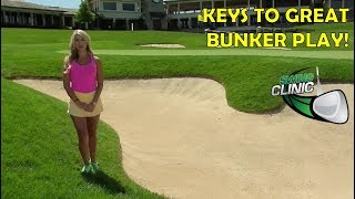 Video Swing Clinic:  Lauren & Jimmy's Keys to Great Bunker Play MP3, 3GP, MP4, WEBM, AVI, FLV Oktober 2018