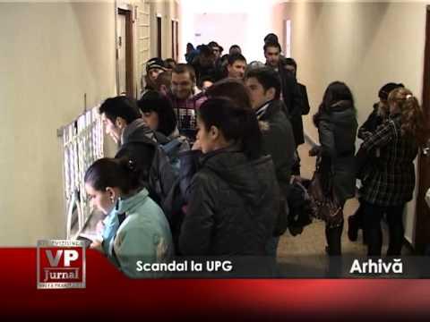 Scandal la UPG