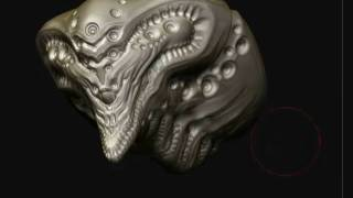 Zbrush creature design sculpting 6
