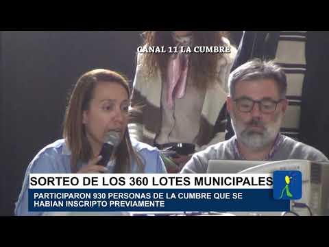 360 LOTES SORTEADOS.: VIDEO CON EL SORTEO DE LOS LOTES DE LA MUNICIPALIDAD