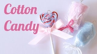 Cotton Candy Charms - Polymer Clay Jewelry (Jewellery) Tutorial - YouTube