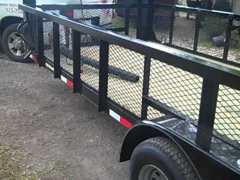 Gooseneck - This is my new custom ordred Performance 20' Gooseneck Landscape Trailer 2' mesh sides, 5200lb axles, 6' ramp gate, LED lights. Groundskeeper, LLC - Lake Cha...