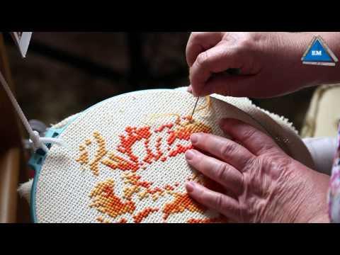 Готовая работа ✥ Вышивка крестиком на льне ✥ Прикладная вышивка