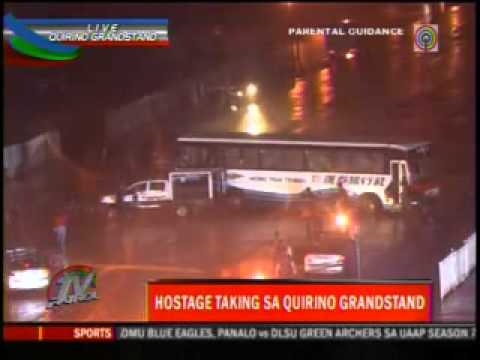 Rolando Mendoza - Live TV Coverage (recorded and cut) para makita nyo kung paano napatay si Rolando Mendoza. They say that it is a headshot that hit Mendoza.