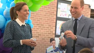 video: Duke and Duchess of Cambridge visit hospital to thank NHS staff ahead of anniversary Clap for Carers