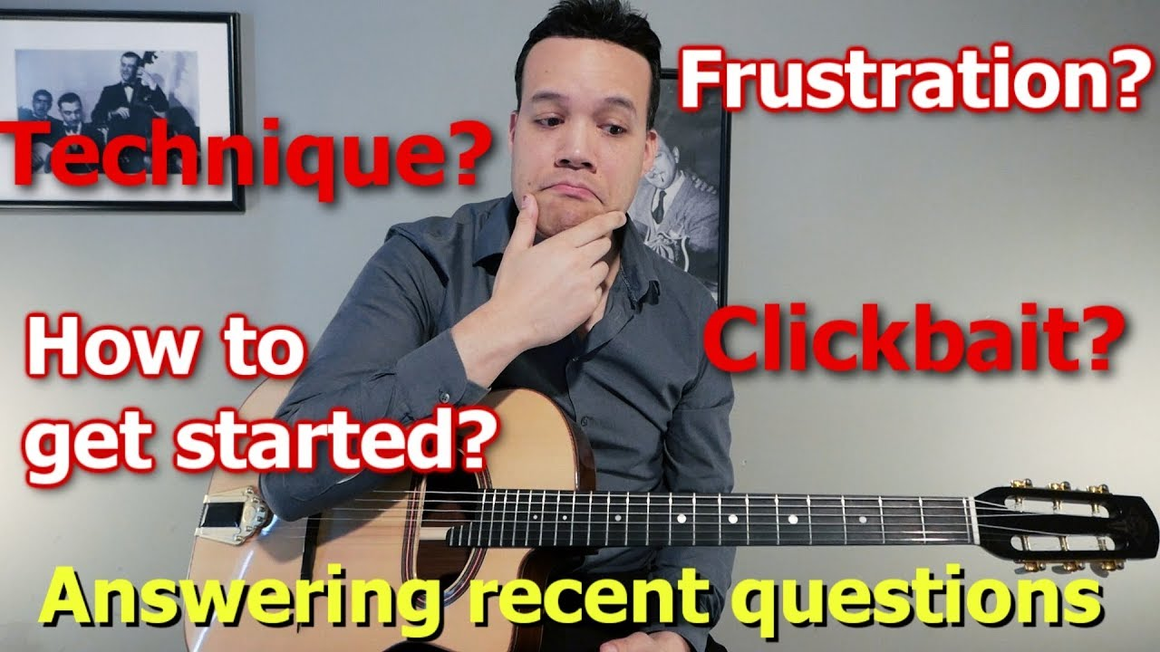 Q&A nr. 2: Getting started with jazz guitar, dealing with frustration, clickbait titles and more!