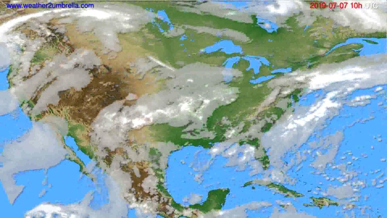 Cloud forecast USA & Canada // modelrun: 00h UTC 2019-07-05