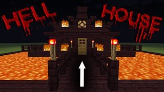 Minecraft: How to build a survival house - Nether House - Hell House