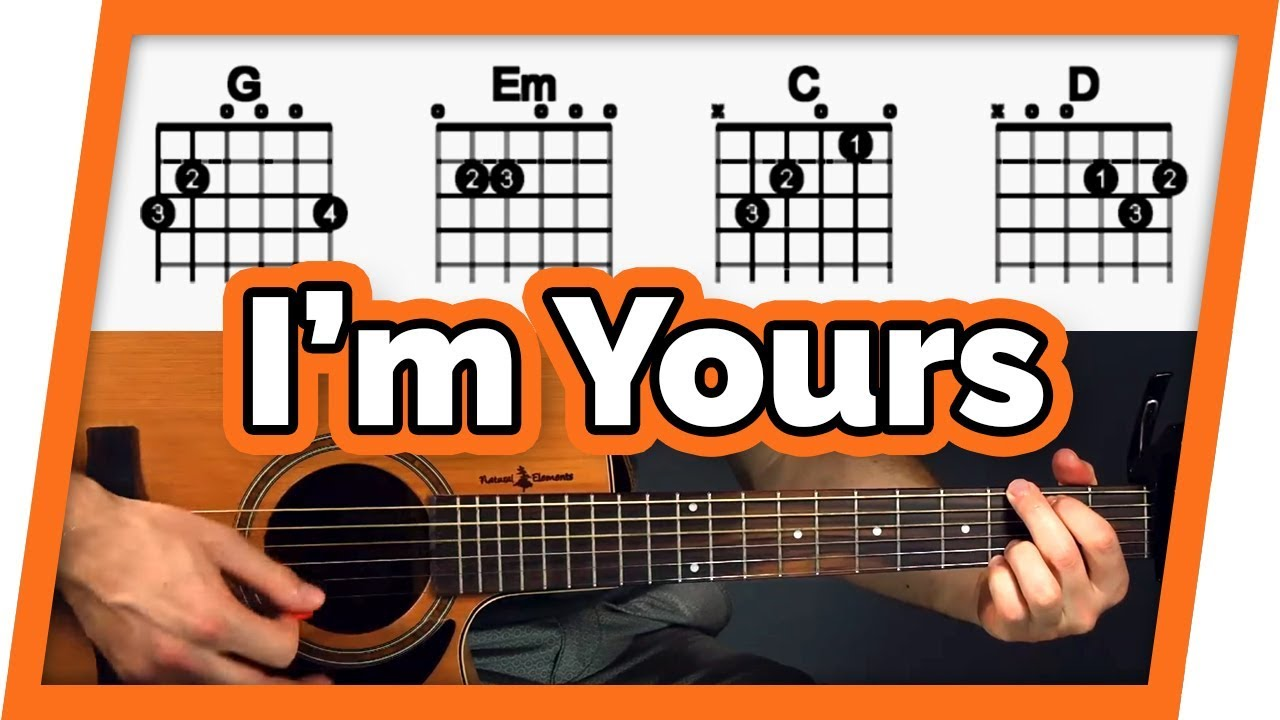 I'm Yours – Guitar Tutorial (Lesson) – Easy Chords For Beginners