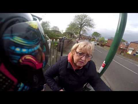 Anti Road Rage As Biker Has Near Miss With