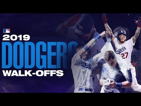 Video: All the Los Angeles Dodgers Walk-offs from 2019!