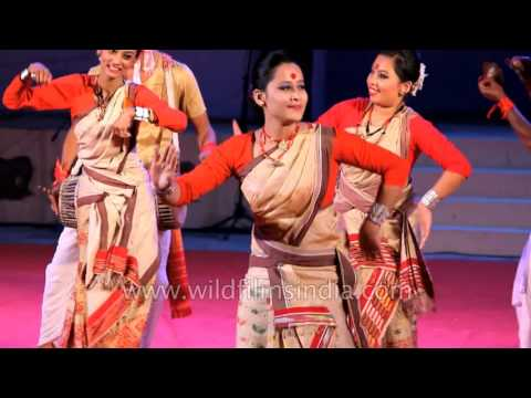 Video Assamese women present signature Bihu dance download in MP3, 3GP, MP4, WEBM, AVI, FLV January 2017